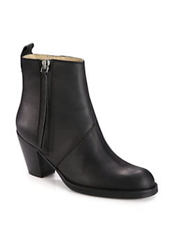 Acne - Basic Pistol Leather Ankle Boots
