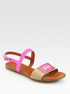 Marc by Marc Jacobs - Neon Logo Leather Sandals