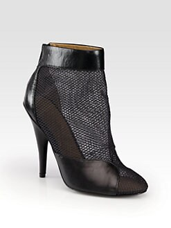 3.1 Phillip Lim - Shirley Mesh & Leather Ankle Boots