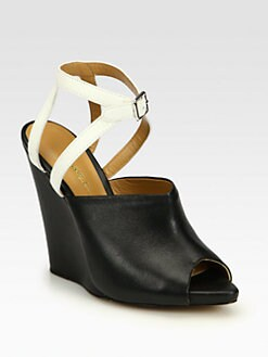 3.1 Phillip Lim - Juliette Bicolor Leather Wedge Ankle Boots