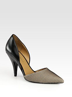 3.1 Phillip Lim - Diamond Mesh & Leather d'Orsay Pumps