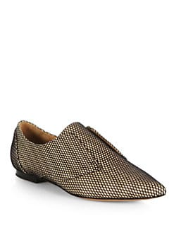 3.1 Phillip Lim - Nancy Mesh & Leather Laceless Oxfords
