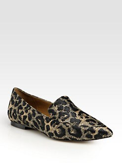 3.1 Phillip Lim - Spade Leopard-Print Raffia Jacquard Loafers