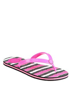Marc by Marc Jacobs - Anemone Striped Flip Flops