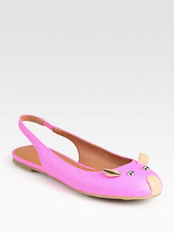 Marc by Marc Jacobs - Mouse Leather Slingback Flats