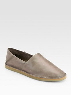 Vince - Kia Distressed Leather Moccasins