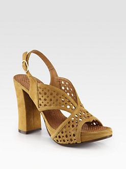 Chie Mihara - Crola Suede Platform Sandals