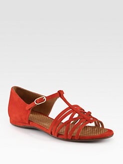 Chie Mihara - Gipsy Suede T-Strap Sandals