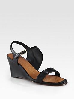 Chie Mihara - Anatour Leather Wedge Sandals