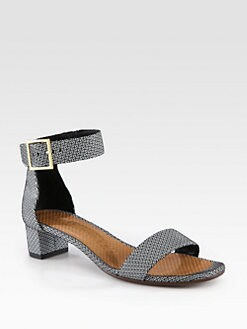 Chie Mihara - Yves Geometric-Print Suede Sandals