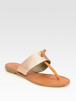Joie - Nice Metallic Leather Thong Sandals