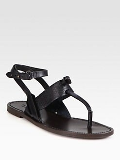 Rag & Bone - Sigrid Snake-Embossed Leather Sandals