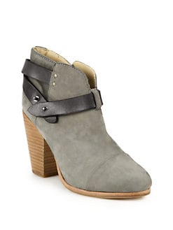 Rag & Bone - Harrow Suede & Leather Ankle Boots