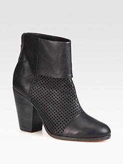 Rag & Bone - Classic Newbury Perforated Leather Ankle Boots