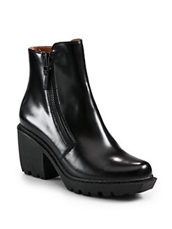 Opening Ceremony - Grunge Leather Double Zip Ankle Boots