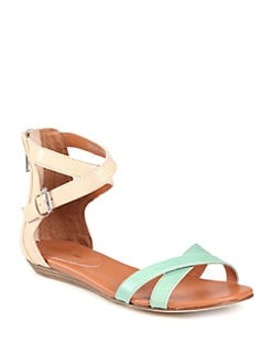 Rebecca Minkoff - Bettina Bicolor Leather Ankle Strap Sandals