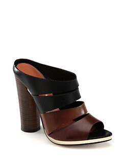 Rebecca Minkoff - Rae Bicolor Leather Slides