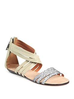 Rebecca Minkoff - Jura Crisscross Leather Sandals