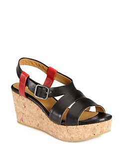 Coclico - Manga Leather Wedge Sandals