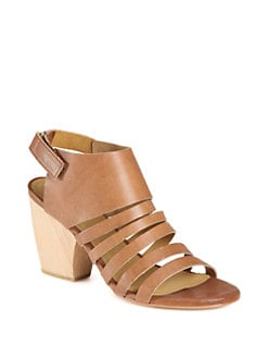 Coclico - Votan Leather Wooden Heel Sandals