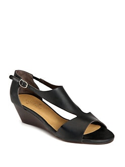 Coclico - Kimie Leather Demi-Wedge Sandals