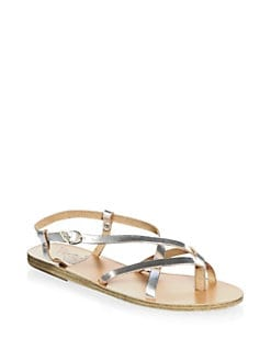 Ancient Greek Sandals - Semele Metallic Leather Sandals