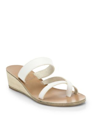 ancient greek sandals female 45883 daphnae leather demiwedge sandals