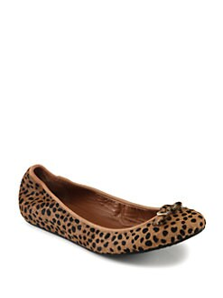 Diane von Furstenberg - Bion Leopard-Print Calf Hair Buckle Ballet Flats