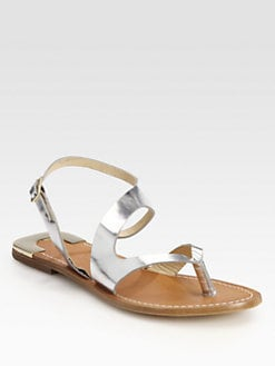 Diane von Furstenberg - Daphne Metallic Leather Sandals