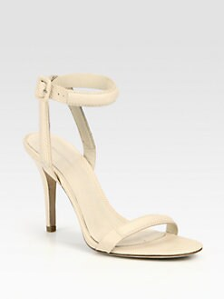 Alexander Wang - Antonia Snake-Print Leather Ankle Strap Sandals