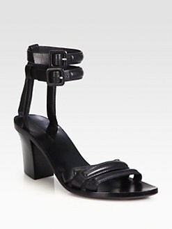 Alexander Wang - Livia Leather Ankle Strap Sandals