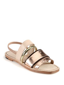 Elizabeth and James - Nicki Metallic Leather Sandals