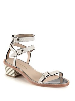 Loeffler Randall - Heddie Leather Ankle Strap Sandals