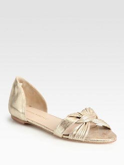Loeffler Randall - Luella Mignon Twist Metallic Leather Sandals