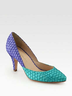 Loeffler Randall - Tasmin Bicolor Fishskin Pumps