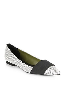 3.1 Phillip Lim - Dove Pebbled Leather Flats