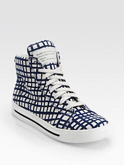 Marc by Marc Jacobs - Mylo-Print Canvas High Top Sneakers