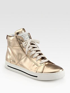 Marc by Marc Jacobs - Mirror Leather High Top Sneakers