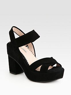 Opening Ceremony - Penny Suede Platform Sandals