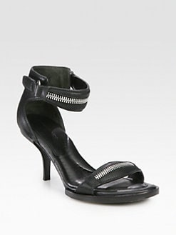 Alexander Wang - Gia Leather Zip Sandals