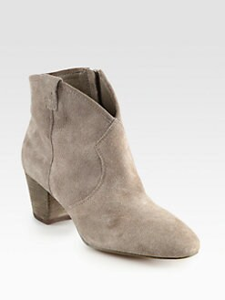 Ash - Spiral Suede Western Ankle Boots