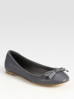 Vera Wang Lavender Label - Leather Bow Ballet Flats