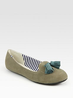 Charles Philip Shanghai - Sylvie Suede Smoking Slippers
