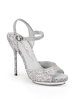 Alice + Olivia - Posey Capri Glitter Platform Sandals