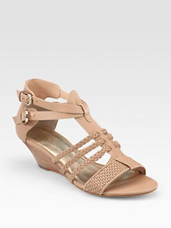 Belle by Sigerson Morrison - Alma Braided Leather Wedge Sandals