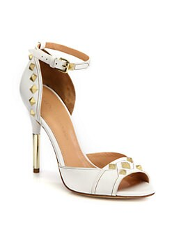 Sigerson Morrison - Keiko Studded Leather Ankle Strap Sandals