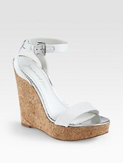 Jean-Michel Cazabat - Wooster Leather Cork Wedge Sandals