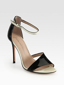 Jean-Michel Cazabat - Olympe Patent Leather Ankle Strap Sandals