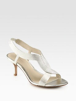 Elie Tahari - Elise Metallic Leather Sandals