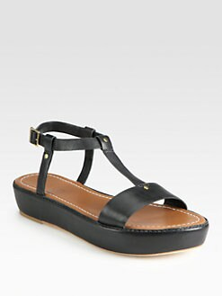 Elizabeth and James - E-Cree T-Strap Platform Sandals